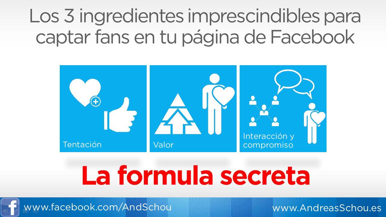 La formula secreta para captar fans en Facebook