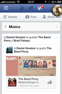 Clic para ver la noticias de música en Facebook