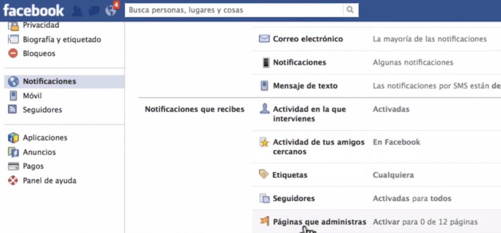 Cómo quitar las notificaciones de mis páginas de Facebook