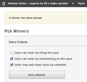 Herramienta para hacer sorteos en el muro de Facebook en tu pagina