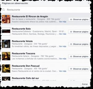 Buscar pagina para analisis de competencia en Facebook