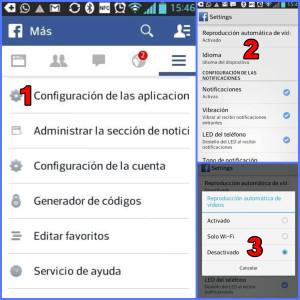 Desactivar vídeos de Facebook en tu SmartPhone Android