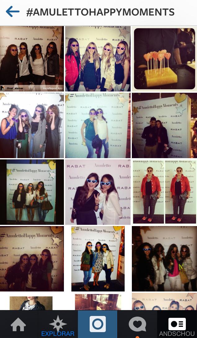 Madrid Fashion Week AMULETTOhappymoments hashtag