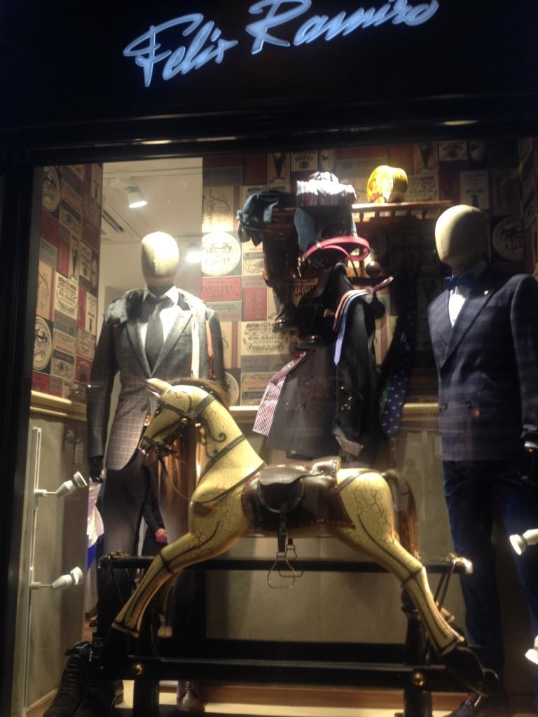 Window display Felix Ramirez  Fashion's Night Out Madrid 2014