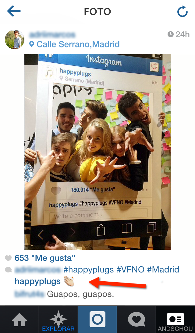 vfno happyplugs instagram photocall interaccion