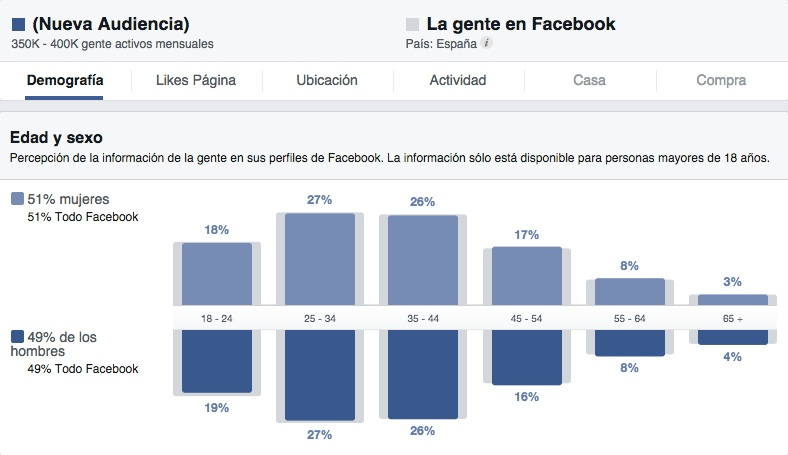 Como usar Facebook Audience Insights - demografia
