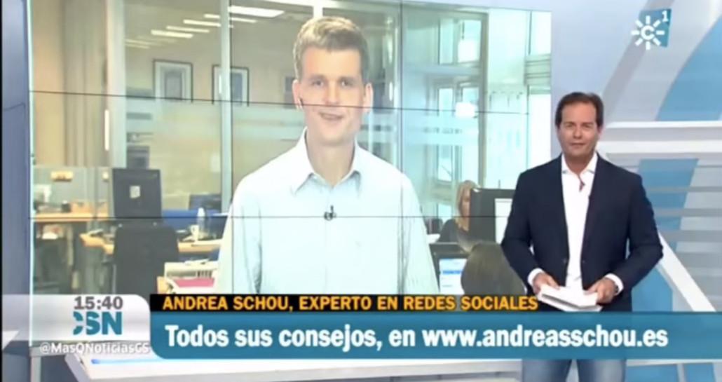 Andreas Schou en Canal Sur Televisión