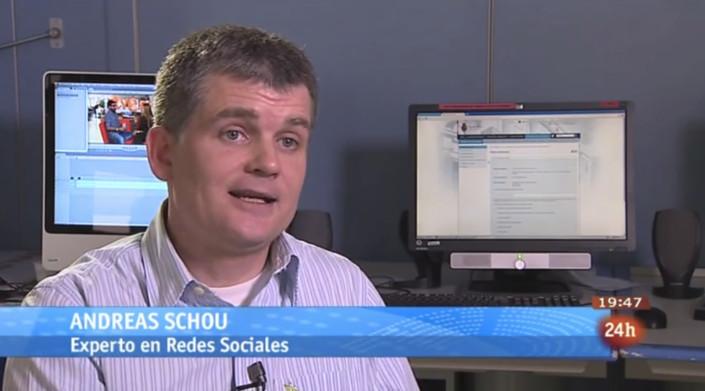 Andreas Schou experto en redes sociales tve television espanola