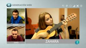 La cantante Zahara en generacionweb en la 2 de TVE
