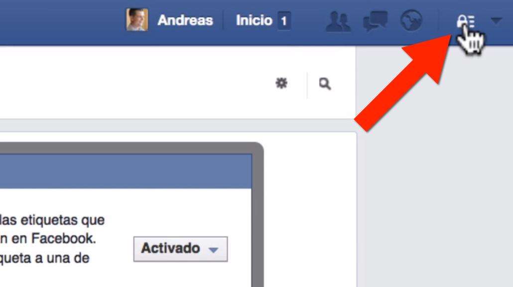 Paso 1 como evitar que me etiqueten en Facebook