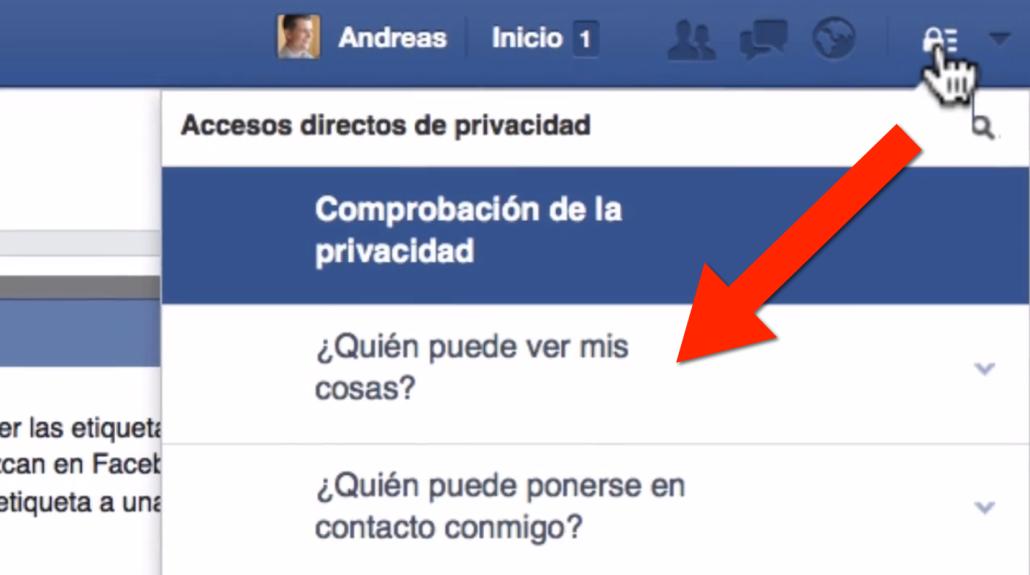 Paso 2 como evitar que me etiqueten en Facebook
