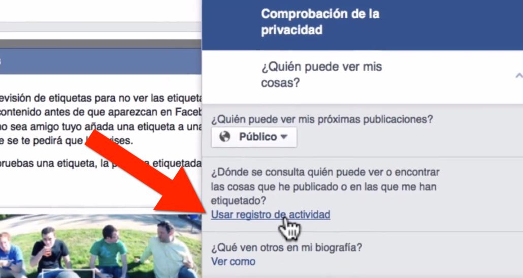 Paso 3 como evitar que me etiqueten en Facebook