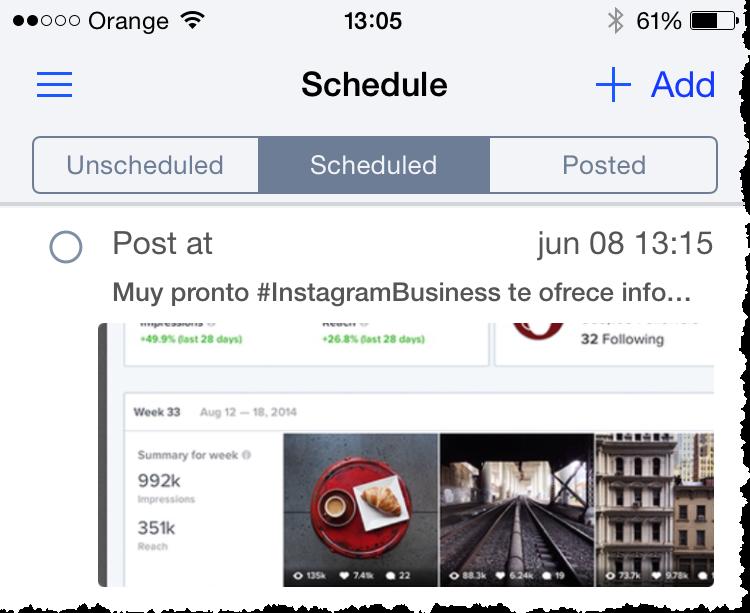 Latergram - herramientas de Instagram para empresas