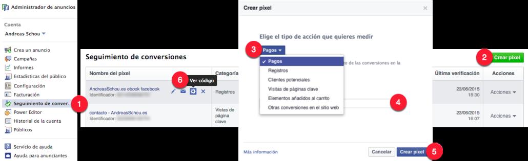 Cómo crear pixel de conversión en facebook
