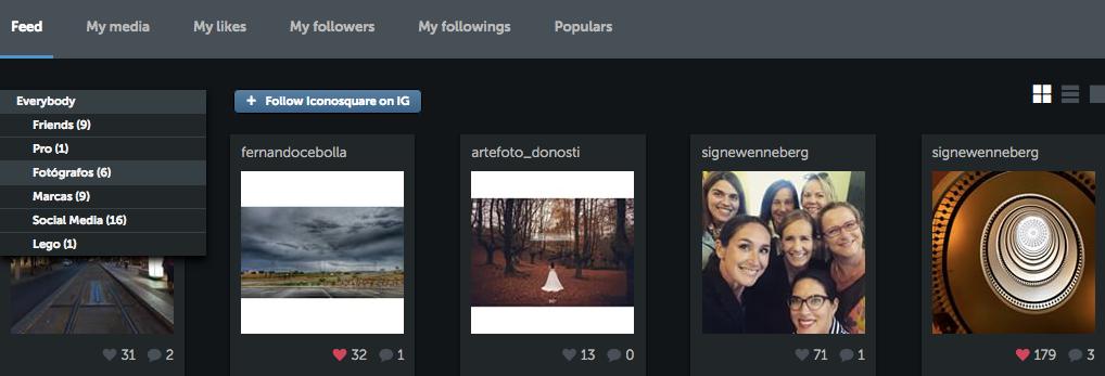 iconosquare Visor - herramientas de Instagram para empresas