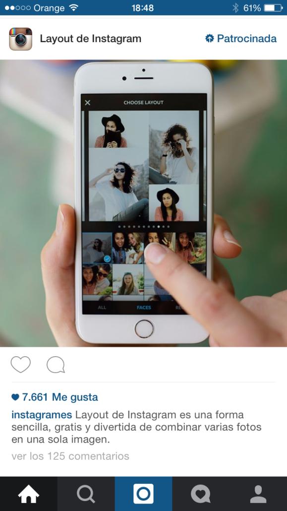 Layout - Herramientas de instagram para empresas