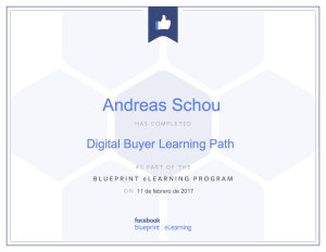 Facebook Blueprint Buyers path certificate Andreas Schou
